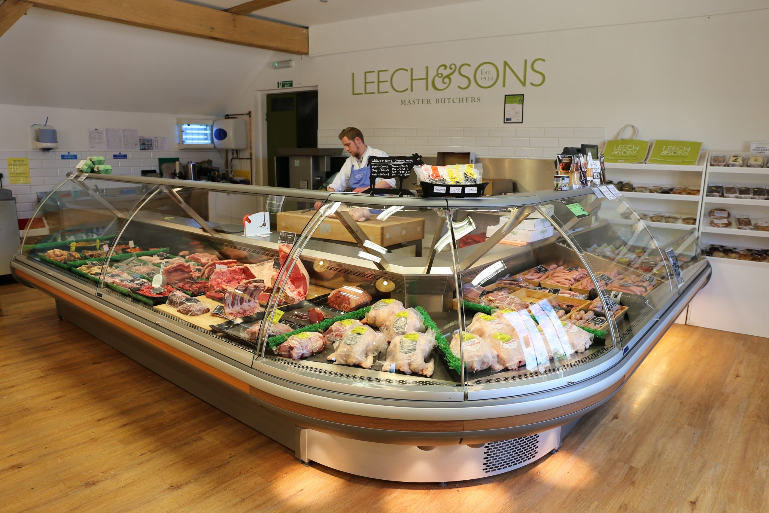 Leech and Sons Master butchers, providers of locally sourced meats - onsite at burwash larder