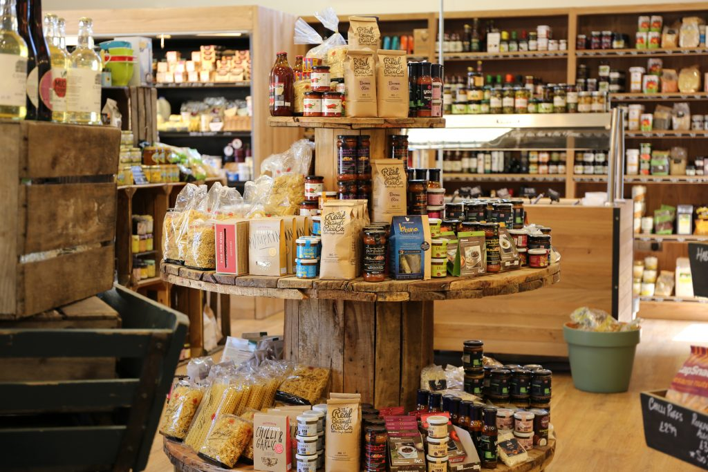 some of the quality local products sold at burwash larder farmshop