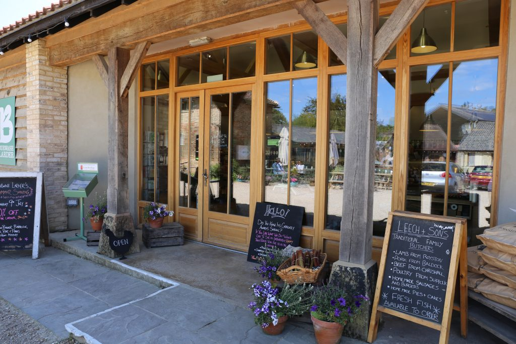 View of the outside of Burwash Larder, cambridge farmshop and deli